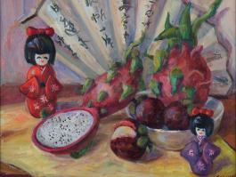 "title=""<b>Китайские фрукты</b><br />Холст, Масло, 40х50, 2011г."""