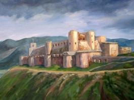 "title=""<b>Замок Крак-де-Шевалье. Сирия</b><br />Холст, масло, 30х40, 2010г."""