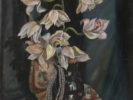 "title=""<b>Танец белой орхидеи</b><br />Холст, масло, 51х41, 1999г."""