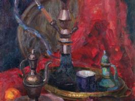 """title=""""<b>Кальян</b><br />Холст, масло, 85х61, 2011г."""""""