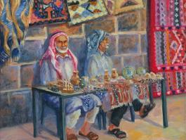"""title=""""<b>Базар в Босре. Сирия.</b><br />Холст, Масло, 40х50, 2008г."""""""