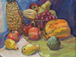 "title=""<b>Индийские фрукты</b><br />Холст, масло, 66х60, 2010г."""