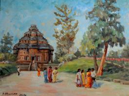 "title=""<b>Храм Солнца. Индия</b><br />Холст, масло, 35х45, 2010г."""