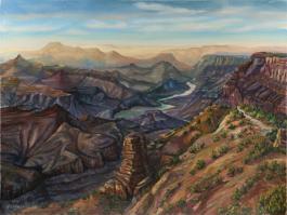 "title=""<b>Палитра Гранд-Каньона. Аризона</b><br />Холст, масло, 46х61, 1999г."""