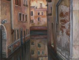 """title=""""<b>Отражение. Венеция</b><br />Холст, масло, 50х40, 2005г."""""""