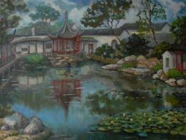 "title=""<b>Сад Ваншиюань в Сучжоу</b><br />Холст, масло, 50х60, 2012г."""