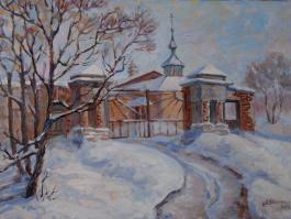 "title=""<b>Старые ворота в Мышкине</b><br />Холст, масло, 50х70, 2013г."""