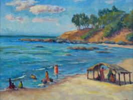 "title=""<b>Индийский пляж</b><br />Холст, Масло, 50х60, 2010г."""